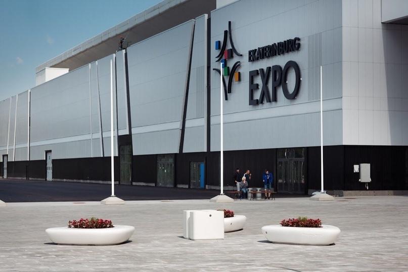 Новые малые архитектурные формы на территории Международного выставочного центра «Екатеринбург-ЭКСПО!»