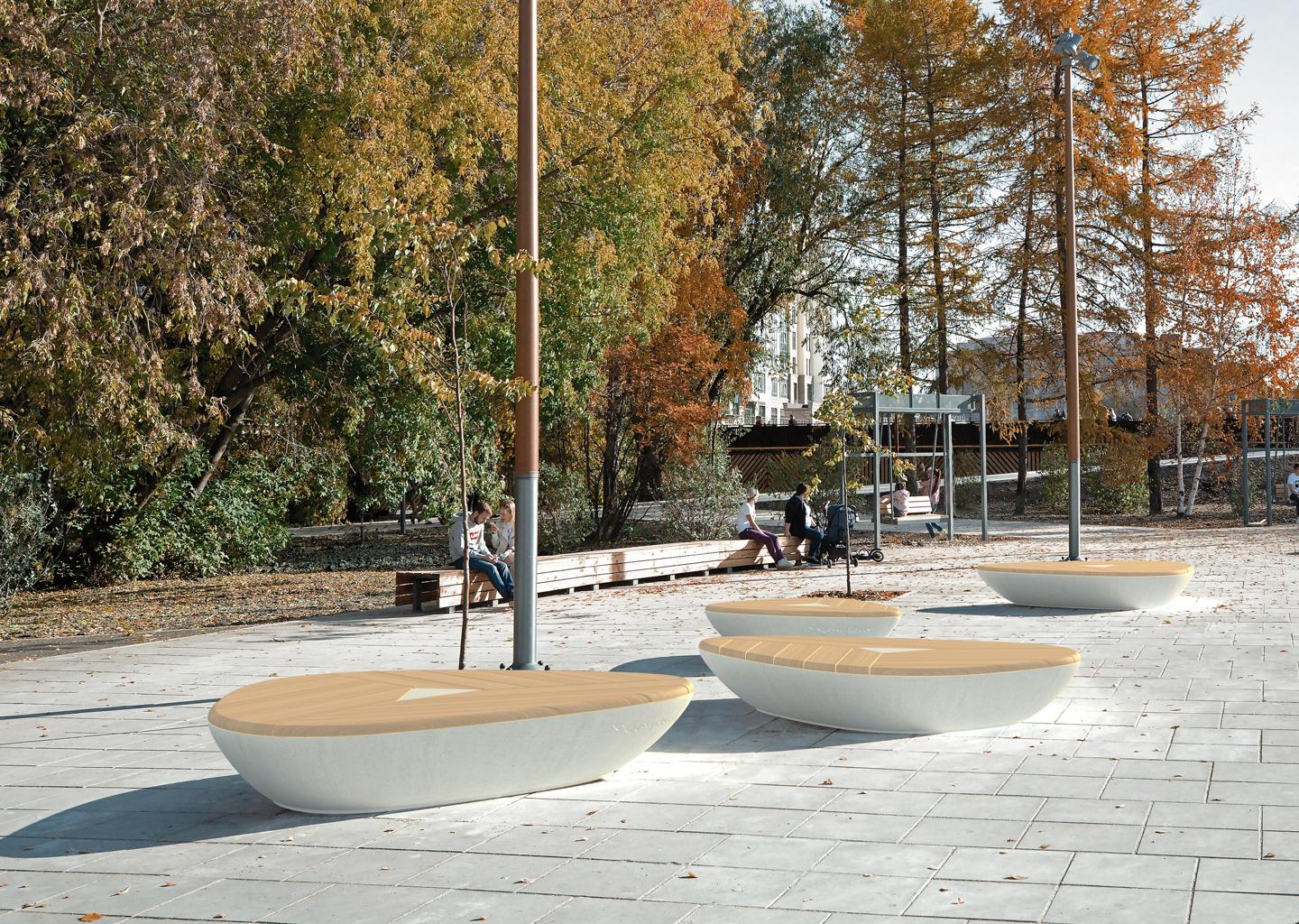 The new modules in the Pebbles collection are the perfect solution for urban spaces improvement!
